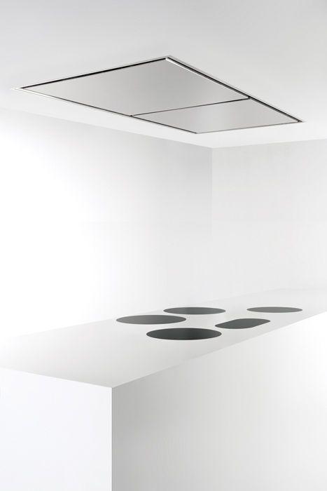 Line, kitchen cooker hood & multizone hobs by Belgian brand Novy _