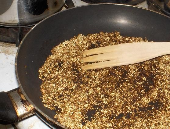 How to Properly Clean and Toast Quinoa. This is the way I prep mine. Totally changes the taste if u toast it first.