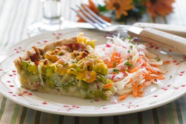 Superlækker hverdagstærte med laks og spinat