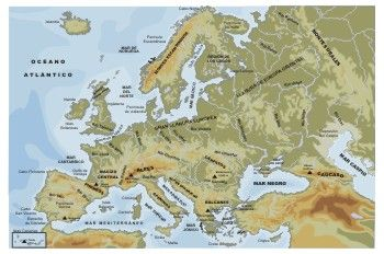 """""""Mapa físico de Europa"""""""
