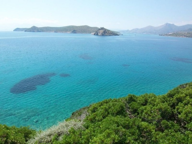 Building land with spectacular sea views in Plaka, Crete, Greece.