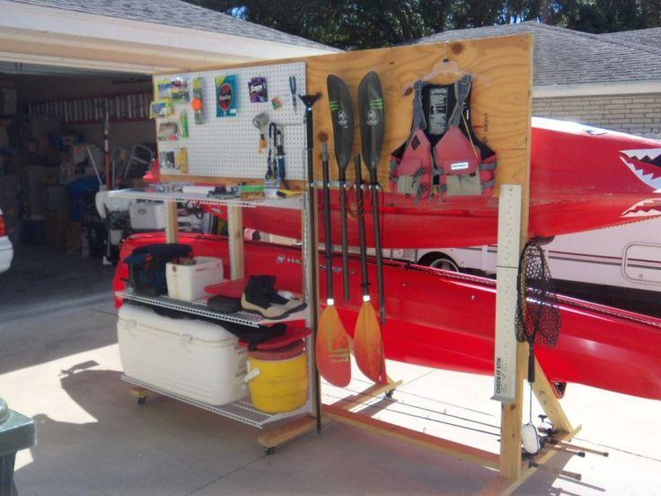 DIY Kayak And Gear Storage Rack