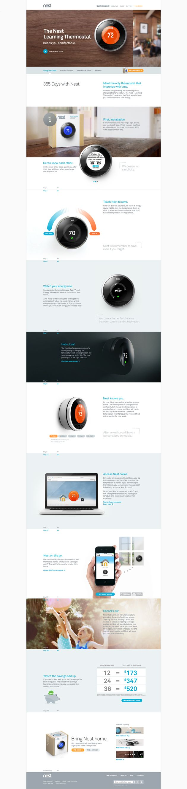 Life with Nest Thermostat in 2020 Web design, Web design