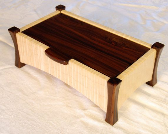 Curly maple and rosewood keepsake box by PatricksSpecialties