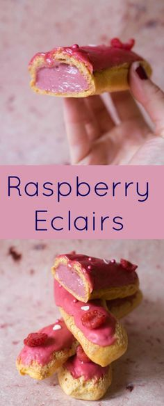 Raspberry Eclairs - Patisserie Makes Perfect
