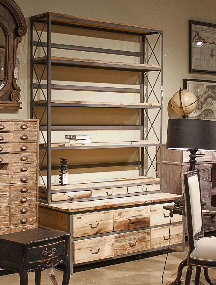Amazing Go Home LTD Wood U0026 Steel Baxter Bench/Bookcase