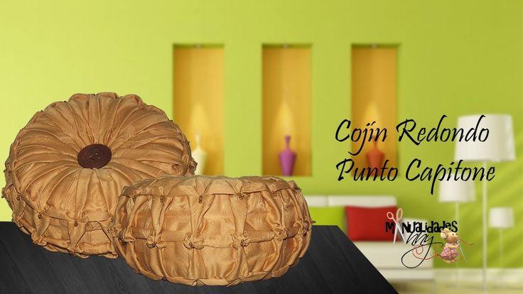 CLASE XIV - COJIN REDONDO PUNTO CAPITONE | Manualidades Anny