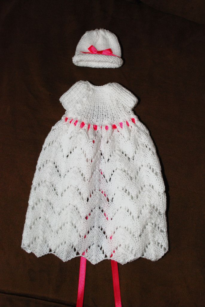 free knitting pattern review angel wings gown by hain