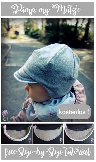 Freebook Kindermütze / Schirmmütze nähen mit extra Paspel am Schirm , gratis Tutorial