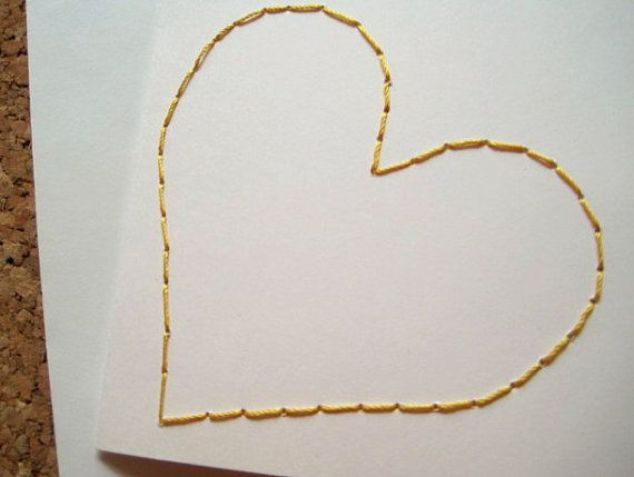 Eura Heart Yellow Card by EuraLee on Etsy