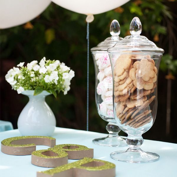 Birthday Table Presentation: Cute Way To Display Baby Name Initials And Love The Way Of