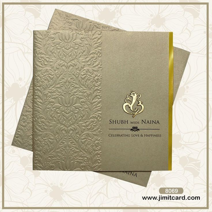 telugu wedding invitation cards online%0A A Grey Wedding Card looks is something to look out for  The front of the  invitation envelope has a Embossed Floral design in self at the Left  u      embossed