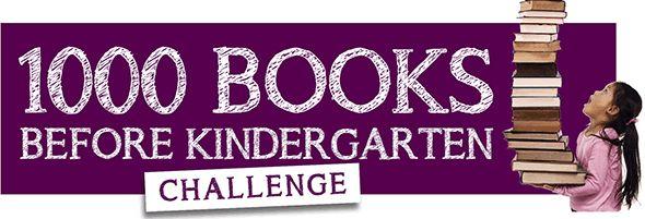 1000 books before kindergarten challenge- sample from Louisville Public Library