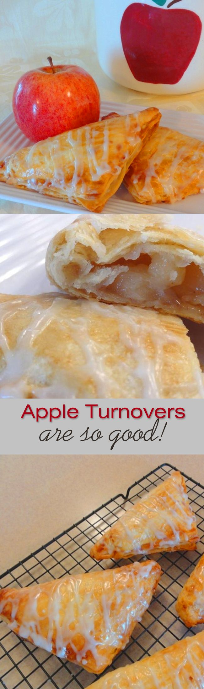 This homemade buttery pastry is delicious, light, flakey, tender, and it puffs up beautifully when baked. No wonder Apple Turnovers are so good!