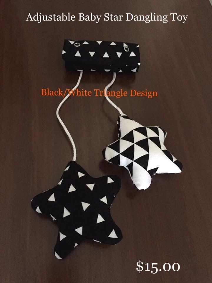 Image of Adjustable Baby Star Dangling Toy - Black/White Triangle