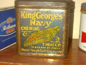 King George Navy Chewing Tobacco Tin