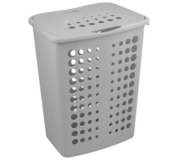 Buy ColourMatch 40 Litre Laundry Hamper - Flint Grey at Argos.co.uk, visit Argos.co.uk to shop online for Linen baskets and laundry bins, Laundry and cleaning, Home and garden