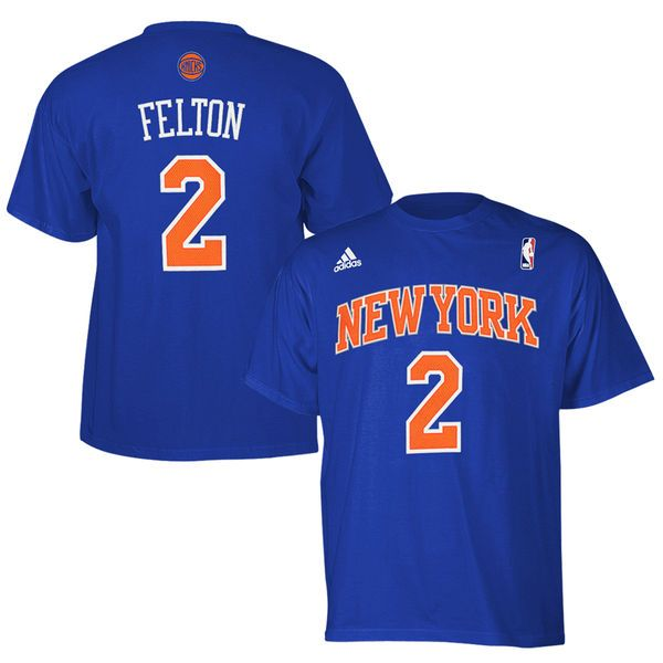 Raymond Felton New York Knicks adidas High-Density Gametime Name & Number T-Shirt – Royal Blue - $15.99