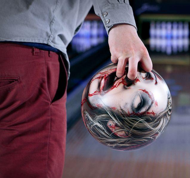 Zombie bowling ball.