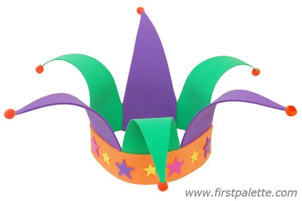 Craft foam jester hat craft