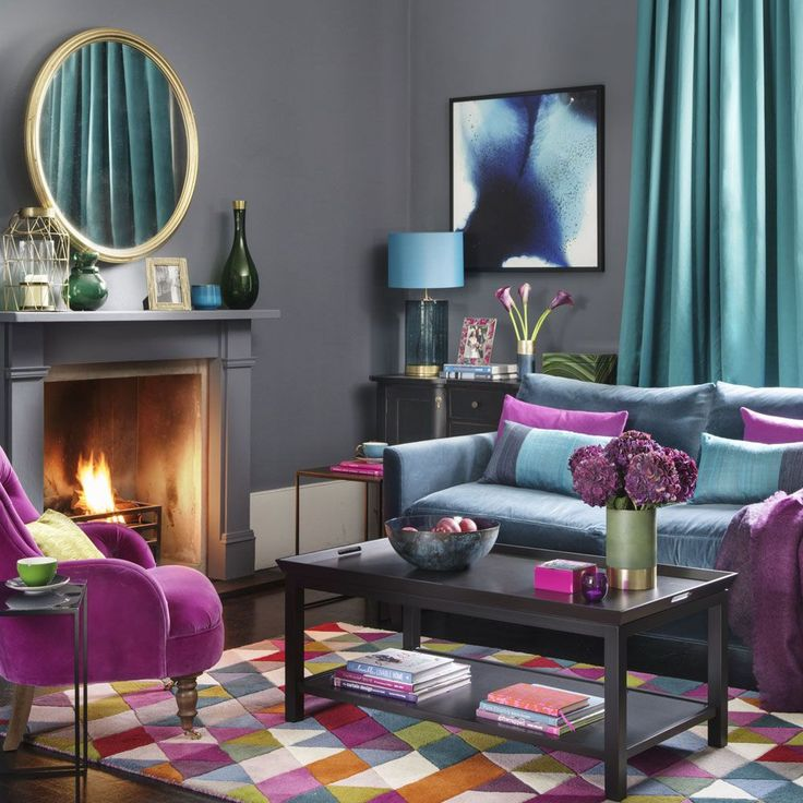Feeling bold with your colour choices? Be inspired to fill your home with an abundance of jewel coloured soft furnishings, furniture and accessories.
