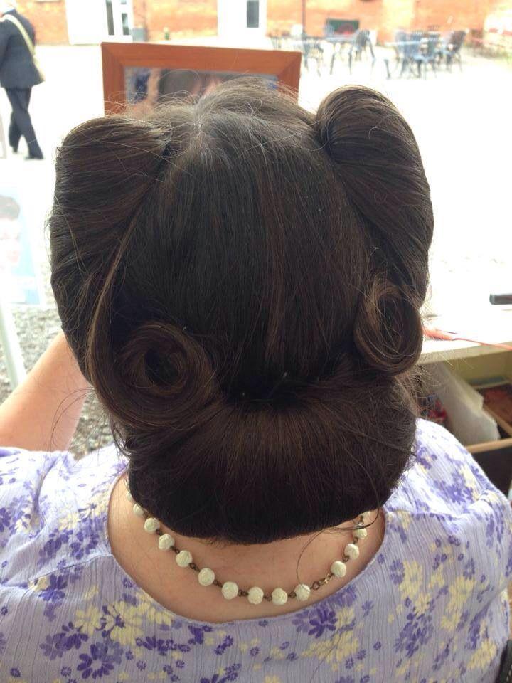 Vintage hair styled by Sarah's Doo-Wop Dos www.doowopdos.co.uk