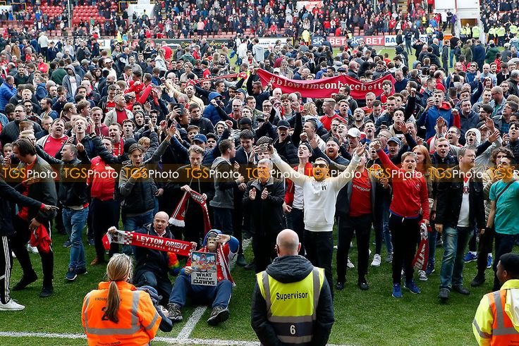 O's fans protest on the pitch before FT during Leyton Orient vs Colchester United, Sky Bet EFL League 2 Football at the Matchroom Stadium on 29th April 2017