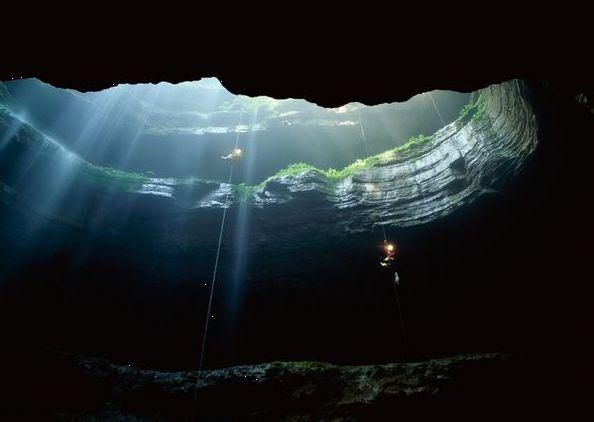 "Sotano De Las Golondrinas, ""Cave of Swallows"" in San Luis Potosi, Mexico."