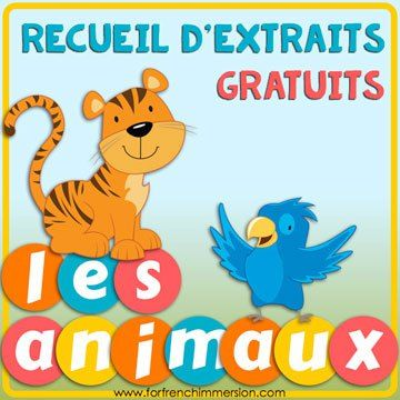 FREE French Classroom Tips and Freebies eBook: tips from several French teacher-authors and links to more than 15 free resources you can use in your French classroom! Theme: les animaux