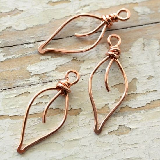Copper Wire Jewelry | ... copper wire small handmade wirework by mycorabella leaves solid copper