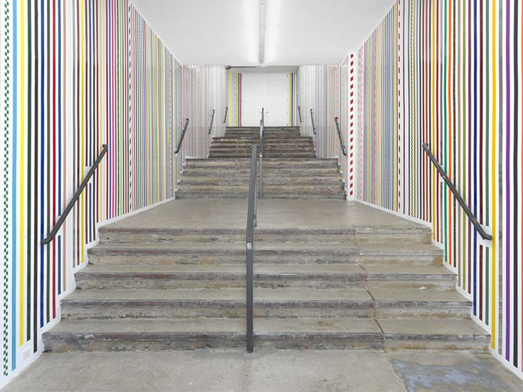 Martin Creed - Work No. 1461, 2013 - 2-inch wide adhesive tapes   Overall dimensions variable