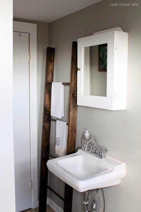 The 25 Best Ladder Towel Racks Ideas On Pinterest