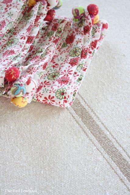 The Red Feedsack: A Farmhouse Tablecloth