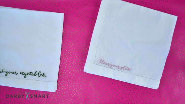 How to Make Embroidery Napkins