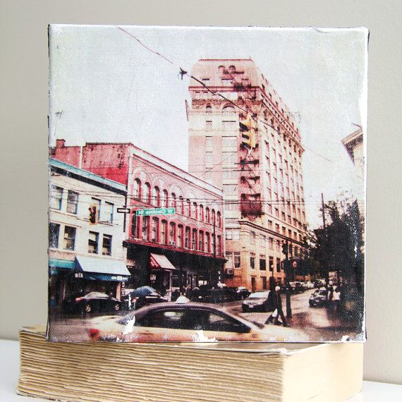 8x8 Photography transfer onto Canvas. Cordova Street by Kaviandco, $55.00