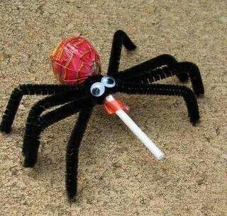 Halloween spider pops
