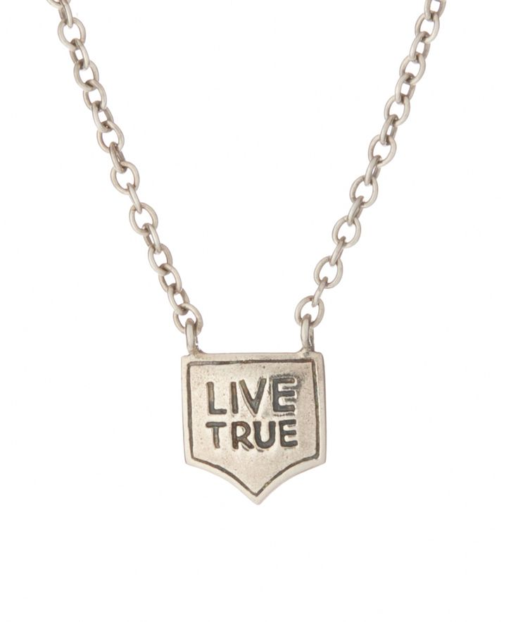 Sterling Silver 'Live True' Pendant//