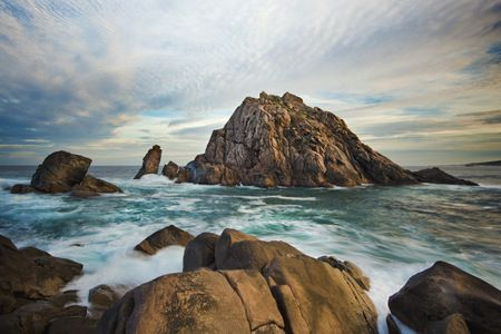 Interior Design and Home Decoration Artwork from Art Australia - buy this original signed print in 3 sizes.  Bay of Rocks by David Rennie available via http://www.art-australia.com/bay-of-rocks-by-david-rennie/