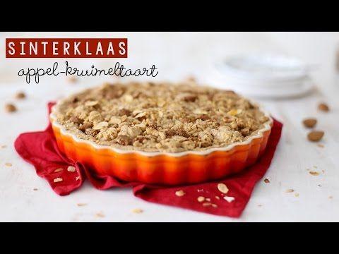 Sinterklaas appel-kruimeltaart (+video) - Lekker en Simpel