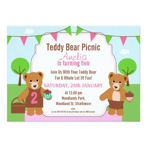 410 best Bear Birthday Party Invitations images on Pinterest - picnic invitation template