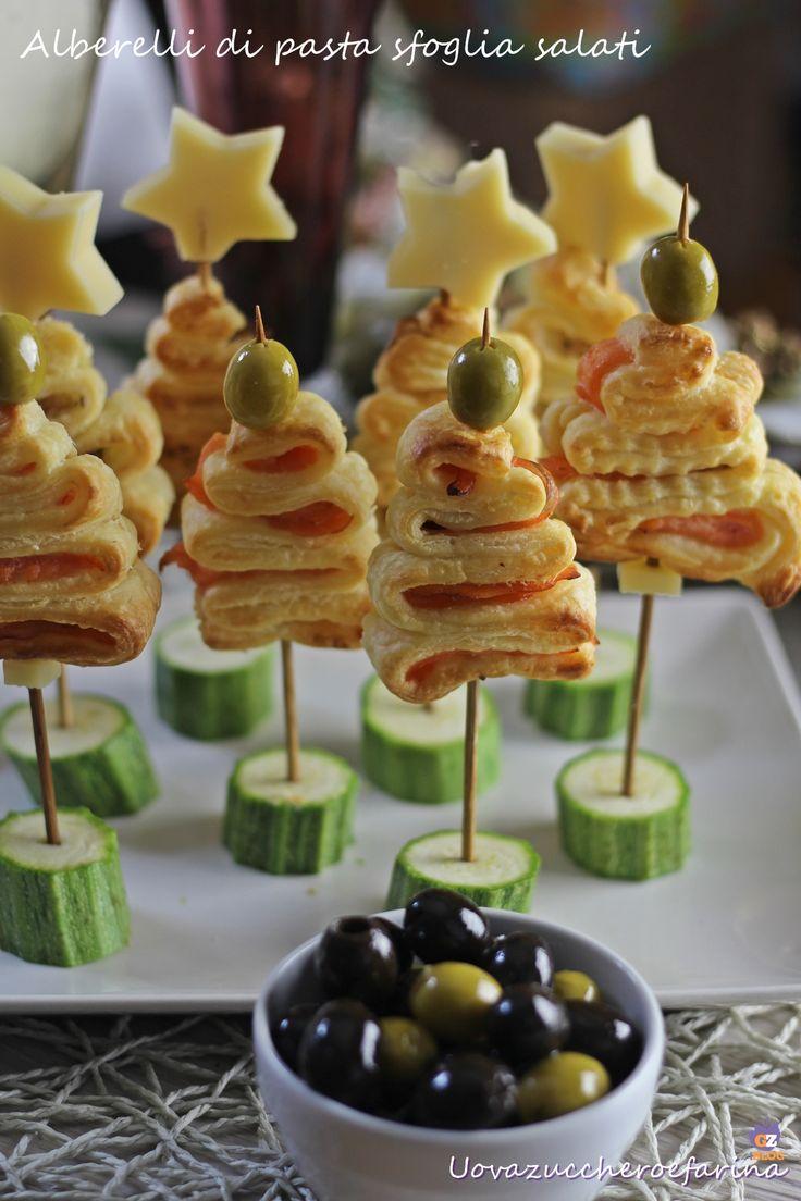 alberelli di pasta sfoglia salati