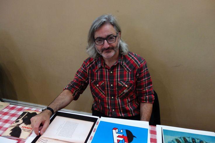 Gary Barwin, serif of nottingham press. Meet the Presses Literary Market. November 19, 2016. Photo by Don McLeod.