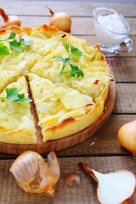 quiche vegetariana alle cipolle - torta salata cipolla