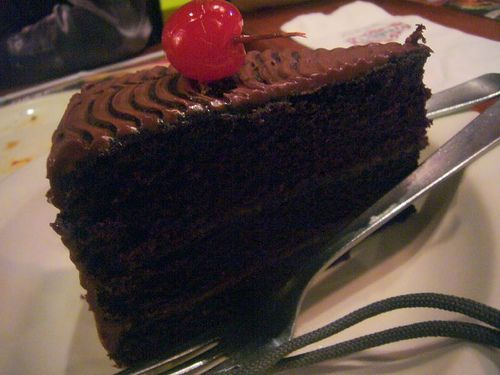 Tgi Friday's Chocolate Malted Cake http://www.food.com/recipe/tgi-fridays-chocolate-malted-cake-103048