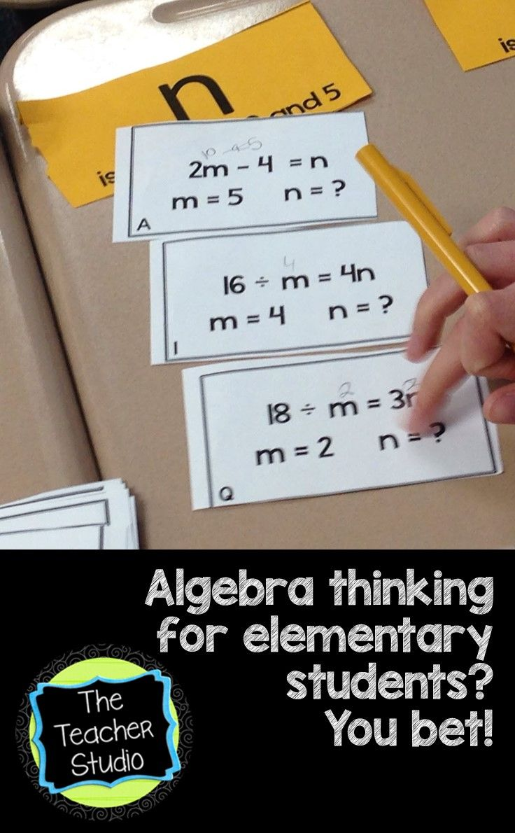 The Teacher Studio: Learning, Thinking, Creating: It's a New Concept Sort! Algebra Thinking