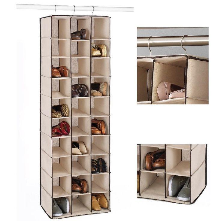 Hanging #Shoe Organizer Closet #Storage Bag Over the Rod Space Saver 30 Pair Rack #Whitmor #ShoppingOnlineDeals #DanAnnStore #Buyablepins