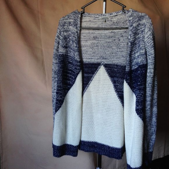 Blue and white cardigan Never worn cardigan great for the winter months coming up! Charlotte Russe Sweaters Cardigans