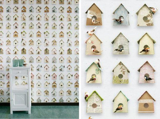 Studio Ditte Birdhouse Removable Wallpaper