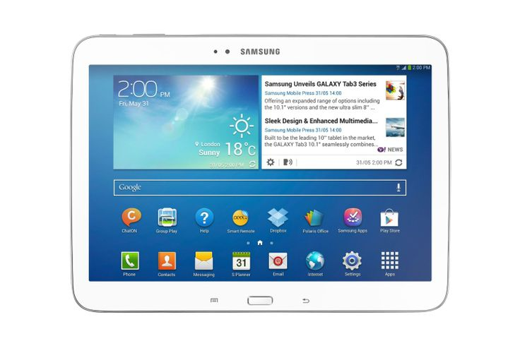 Samsung Galaxy Tab 3 10.1, super speedy Android tablet, with a nice big screen to match http://www.pricerunner.co.uk/pli/224-2725084/Tablets/Samsung-Galaxy-Tab-10.1-3G-16GB-Compare-Prices