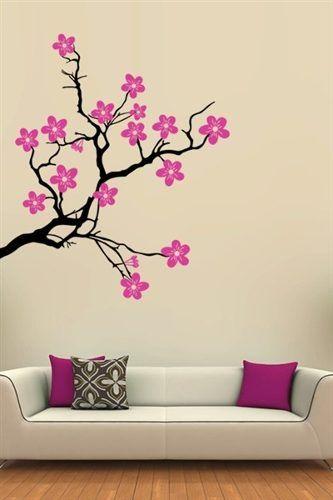 vinilos decorativos arboles y flores